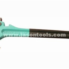 Quick-action pipe wrench w/dipped handle