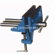 Clamp-on woodworking vise