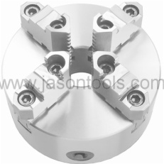 4 jaw self-centering scroll chucks-two piece jaws,DIN6350
