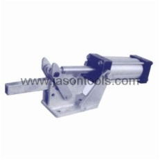 Pneumatic hold-down action clamps